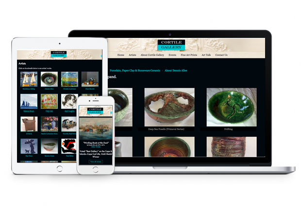 Cortile Gallery Website